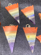 Load image into Gallery viewer, 7 Chakras Arrow Pendant