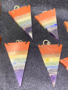 7 Chakras Arrow Pendant