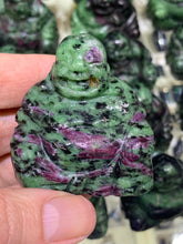 Load image into Gallery viewer, Ruby in Zoisite Laughing Buddha