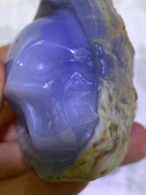Load image into Gallery viewer, Blue Chalcedony Skull