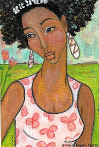 Woman with Orange Blossoms