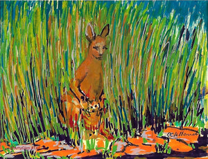Roo in the Grass