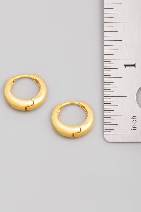 Mini Latch Hoop Huggie Earrings