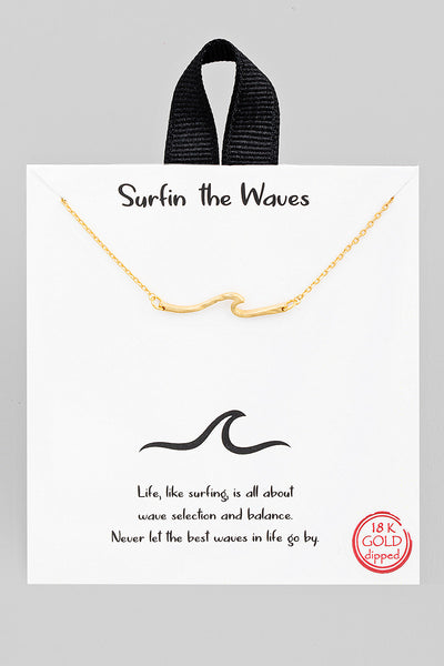 Wave Necklace // Gold
