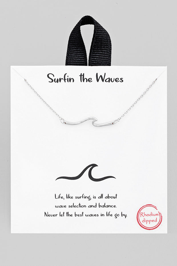 Wave Necklace // Silver