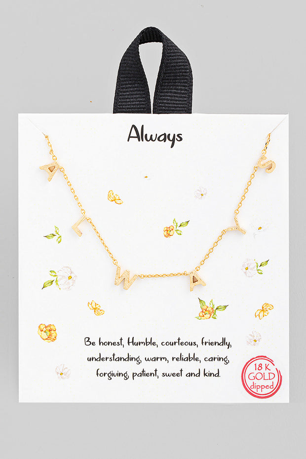 Always Charm Necklace // Gold