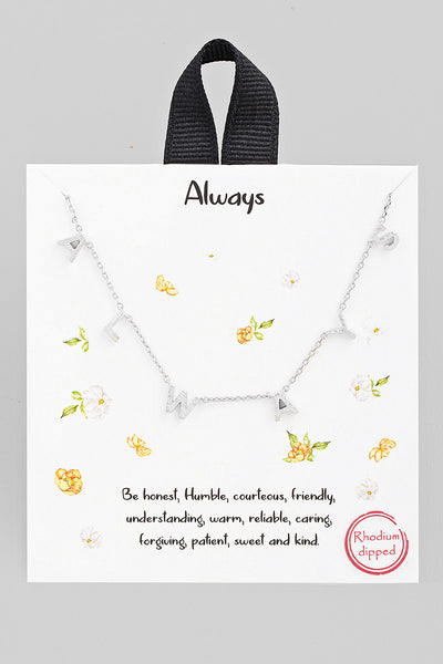 Always Charm Necklace // Silver