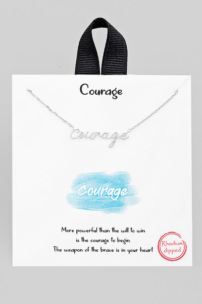 Handwritten Courage Necklace // Silver