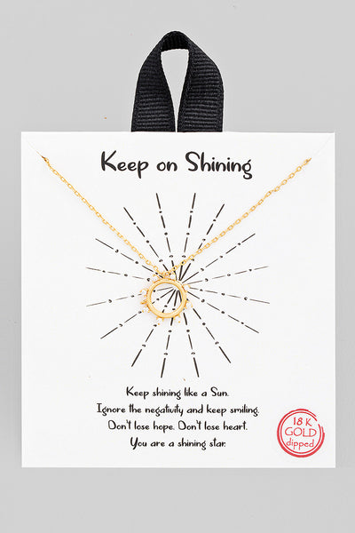 Keep On Shining Necklace // Gold