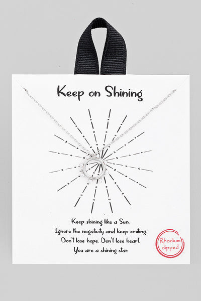 Keep On Shining Necklace // SIlver