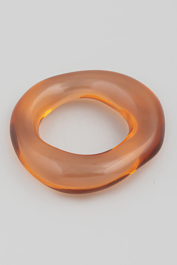 Geometrical Resin Ring // Burnt Orange