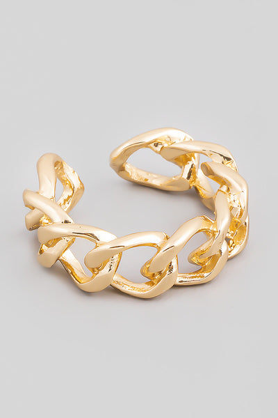 Metallic Chain Link Ring