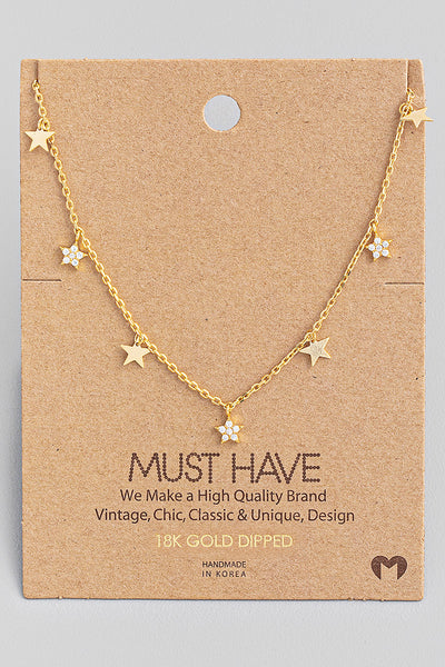 Star Chain Necklace // Gold