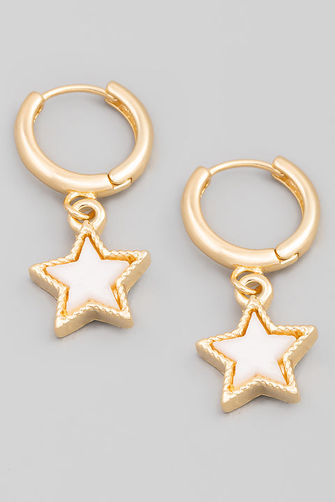 Mini Star Drop Huggie Earrings