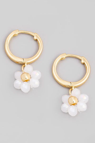 Daisy Huggie Drop Earrings