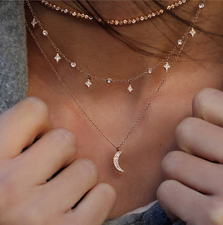 Over the Moon Layered Necklace