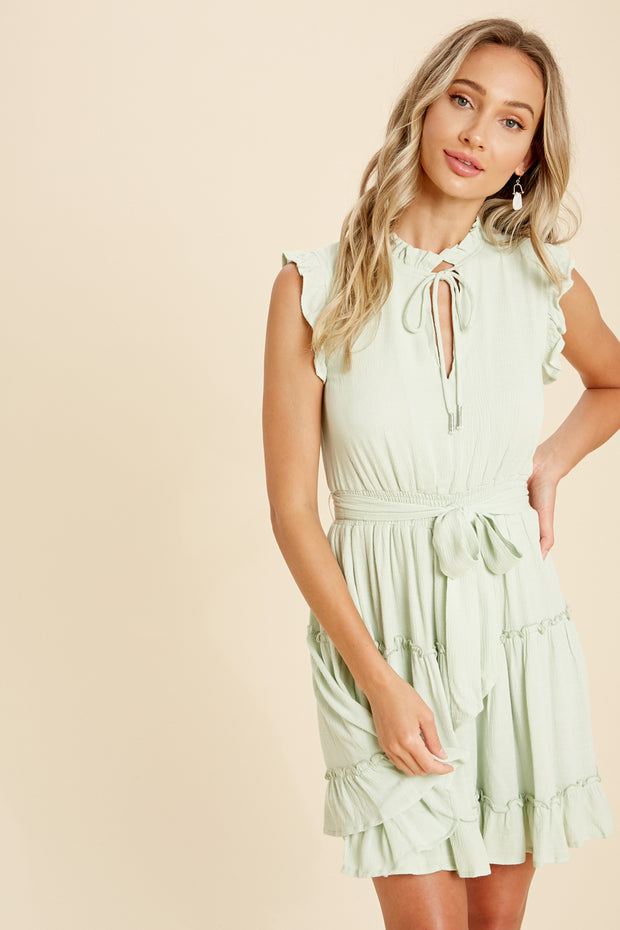 Mint To Be Ruffled Dress