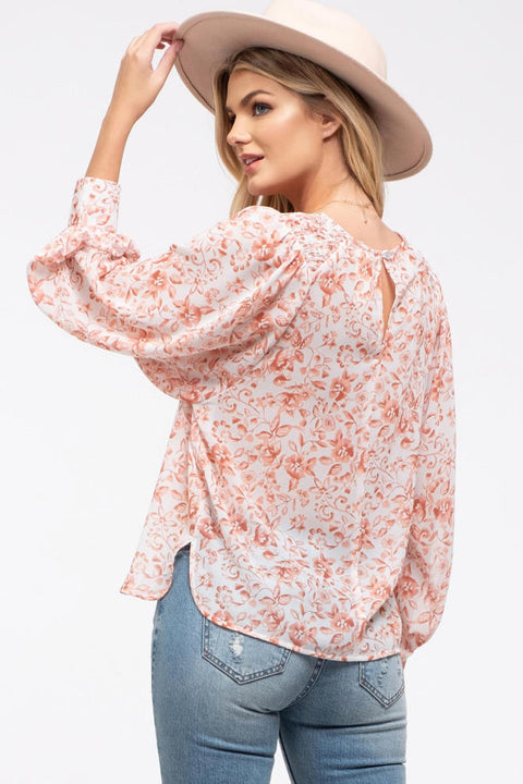 Brooklyn Home Floral Print Top