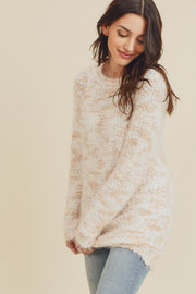 Dancing in the Clouds Blush Sweater with Back Ribbon