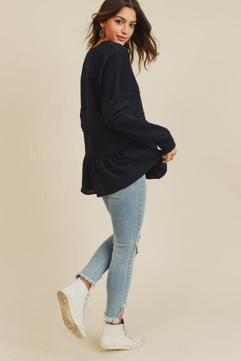 Paris at Midnight Paneled Sweatshirt