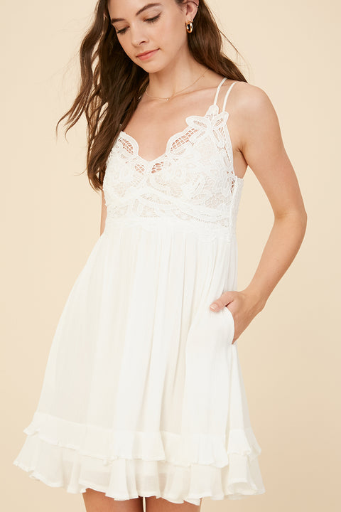 By Morning Ruffle Dress