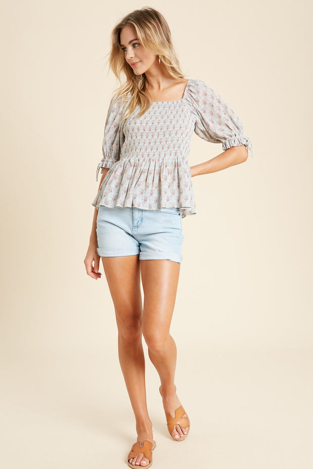 By the Cottage Peplum Top
