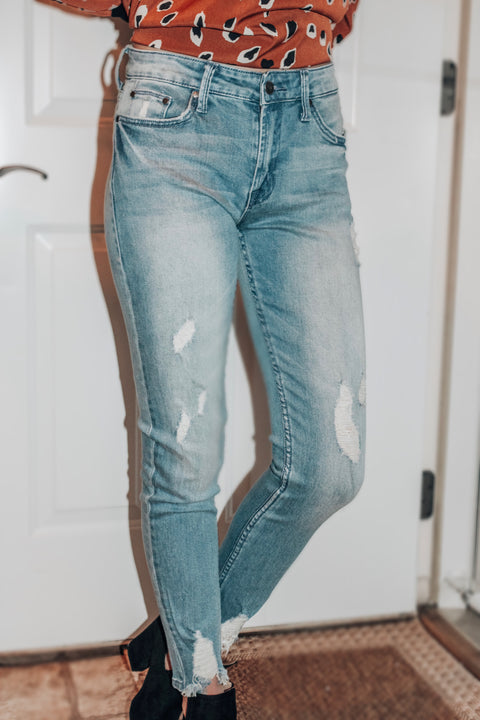 The Ava Distressed Skinny Jeans