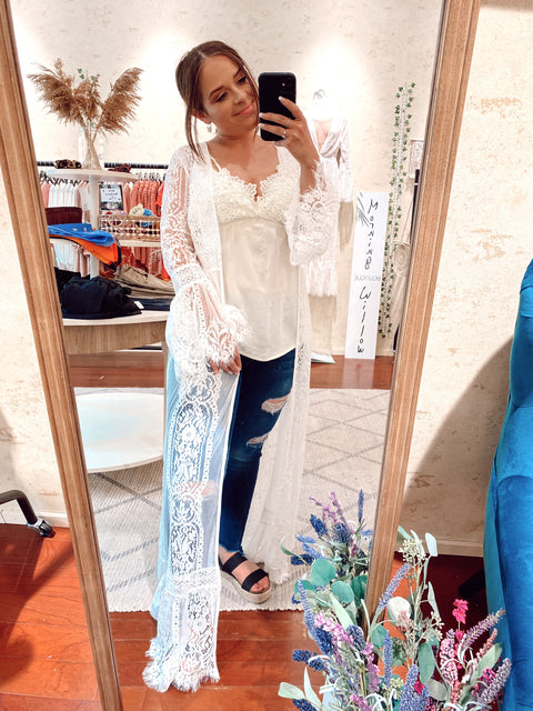 Festival Vibes Lace Duster