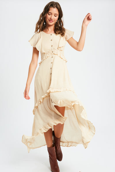 Field of Love Ruffle Midi Dress