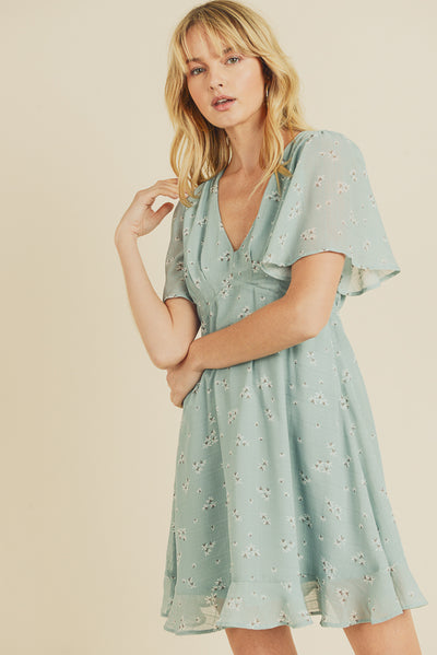 Flower Picking Babydoll Dress