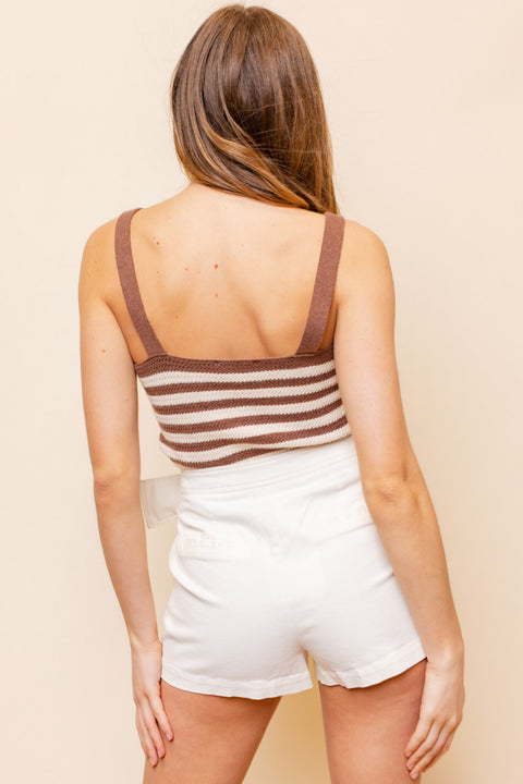 Girl Revolution Striped Knit Tank