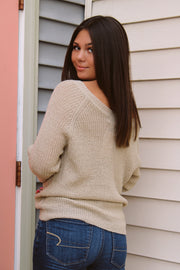 An Obsession Ruched Sweater
