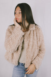 Mirror Image Faux Shearling Jacket