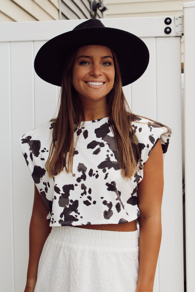 Wild Fire Cow Print Top