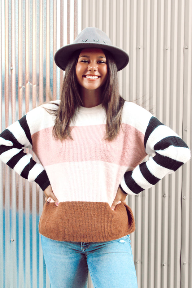 Lost in Yesterday Stripe Sweater