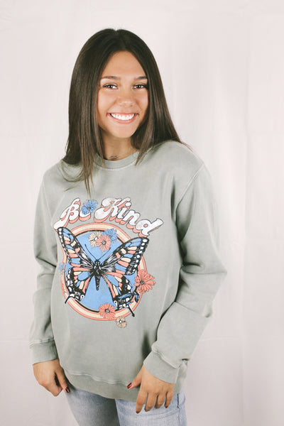 Be Kind Butterfly Sweatshirt