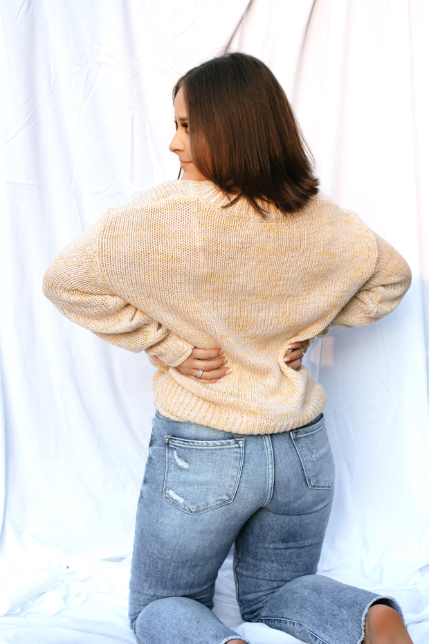 Cafe Au Lait Knit Sweater