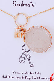 Soulmate Lock And Key Pendant Necklace // Gold