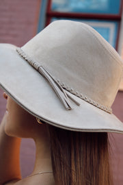 Braided Faux Suede Hat