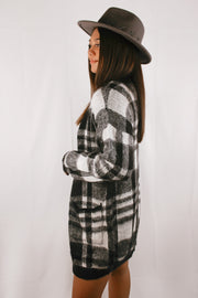 True Story Checkered Cardigan