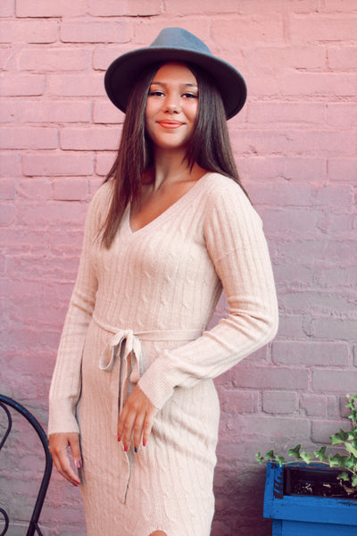 Brunch in Malibu Midi Sweater Dress