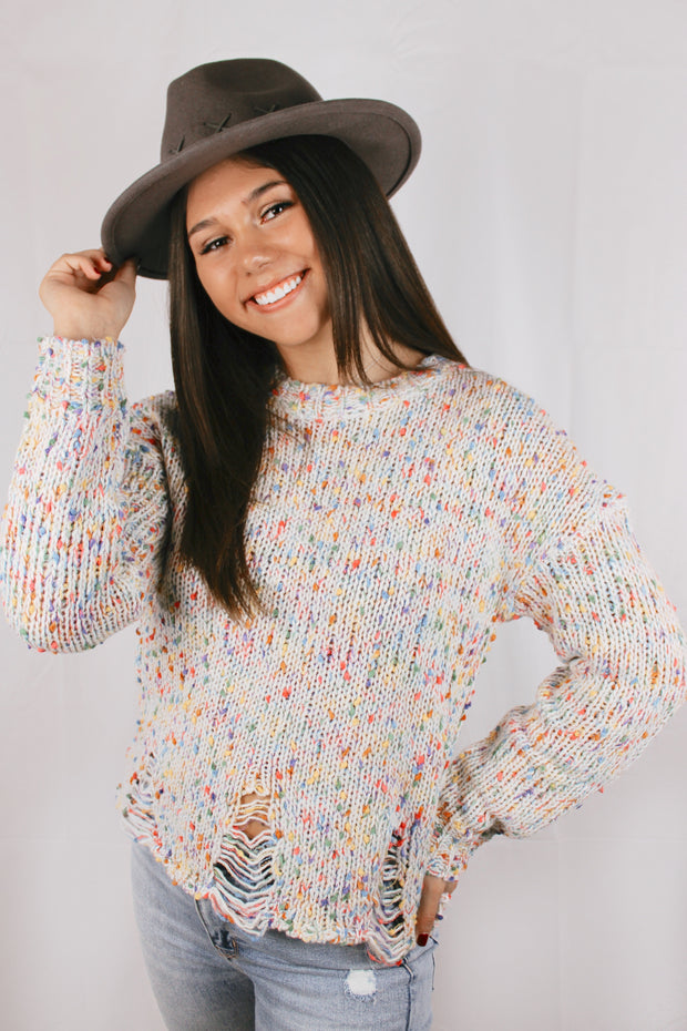 Confetti Lane Destroyed Detail Sweater