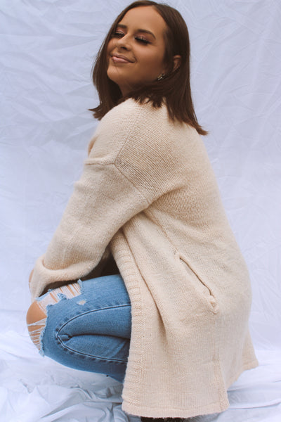 My Staple Ribbed Open Cardigan