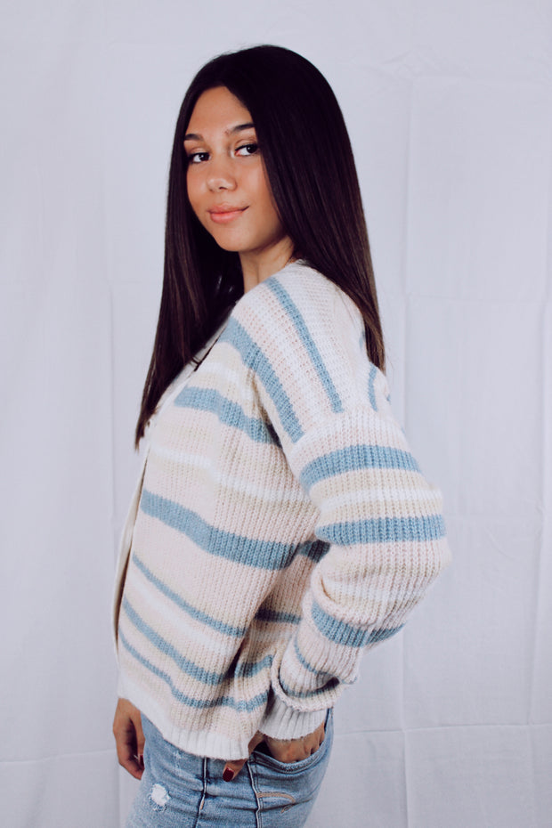 Lost in Translation Striped Cardigan