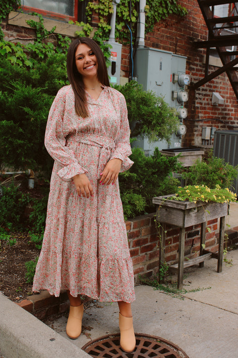 Ticket to the Cottage Floral Dress