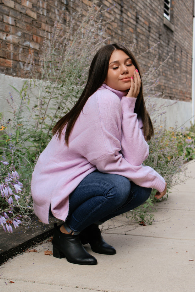Pastel Hour Turtleneck Sweater