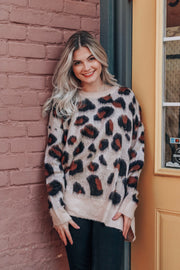 Toasty Evenings Leopard Shift Sweater