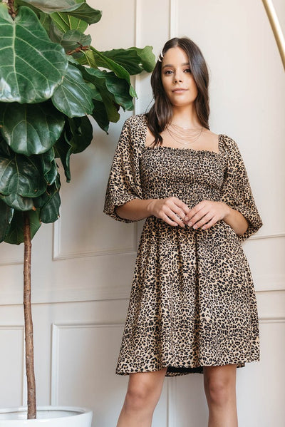 Pumpkins in Manhattan Leopard Print Dress