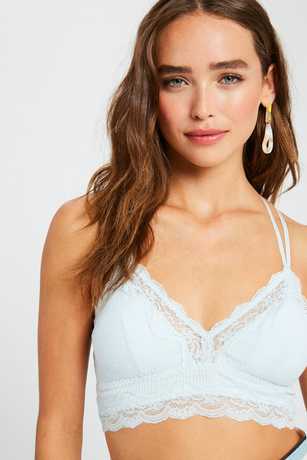 Light Blue Lace Bralette