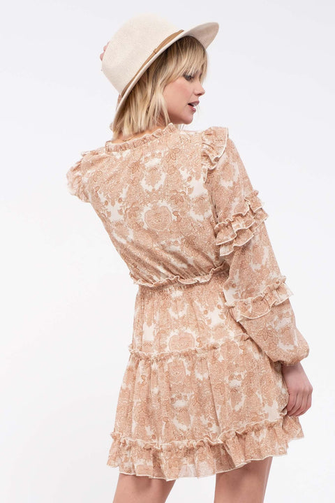 Morning Rain Paisley Dress